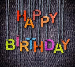 Обои на телефон день рождения, фон, счастливые, красочные, джинсы, буквы, happy
