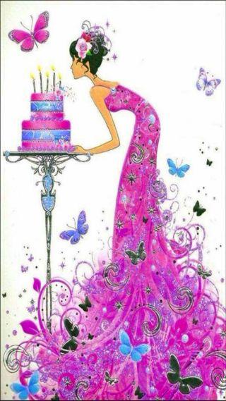 Обои на телефон карты, день рождения, девушки, girl birthday card, birthday card