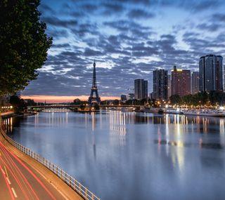 Обои на телефон франция, река, париж, башня