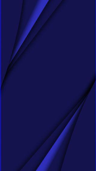Обои на телефон синие, грани, s7