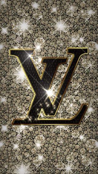 Обои на телефон шаблон, луи витон, логотипы, золотые, дизайнерские, версаче, блестящие, live, hd, gold glitter lv, glitter wallpaper, chanel, 3д, 3d