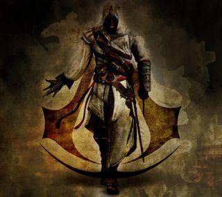 Обои на телефон assassin creed, man, новый, игра, герой, экшен, бой, крид, ассасин, боец