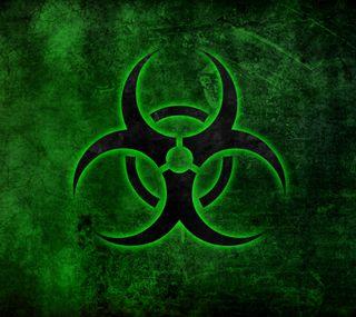 Обои на телефон икона, символ, предупреждение, опасные, логотипы, знаки, зеленые, биологическая опасность, biohazard