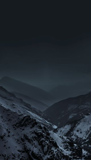 Обои на телефон чилл, туман, темные, снег, серые, горы, misty mountains, landscpaes