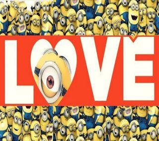 Обои на телефон я, миньоны, любовь, love