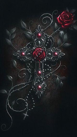 Обои на телефон церковь, молитва, крест, розы, cross roses