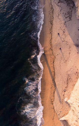 Обои на телефон пустыня, пляж, песок, море, вид, sea view
