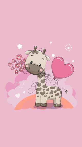 Обои на телефон дети, сердце, любовь, жираф, животные, love