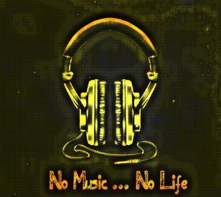 Обои на телефон наушники, цветные, музыка, жизнь, no music no life