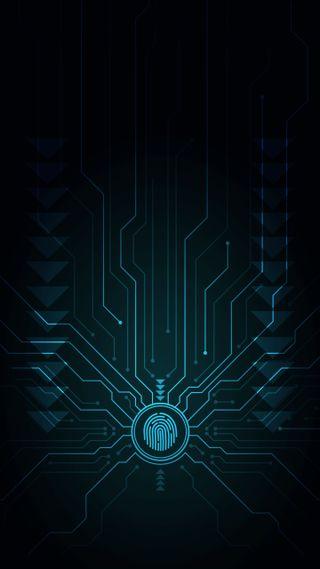 Обои на телефон технология, цифровое, принт, паук, палец, неоновые, грани, веб, абстрактные, hd, finger print