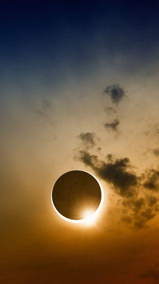 Обои на телефон солнечный, солнце, небо, луна, затмение, eclipse 13