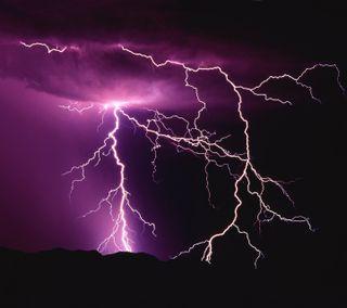 Обои на телефон погода, фиолетовые, приятные, новый, дождь, гром, lightening