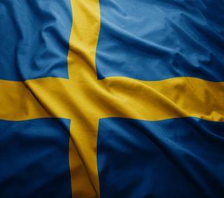 Обои на телефон швеция, флаг, синие, желтые, арт, blue yellow, art