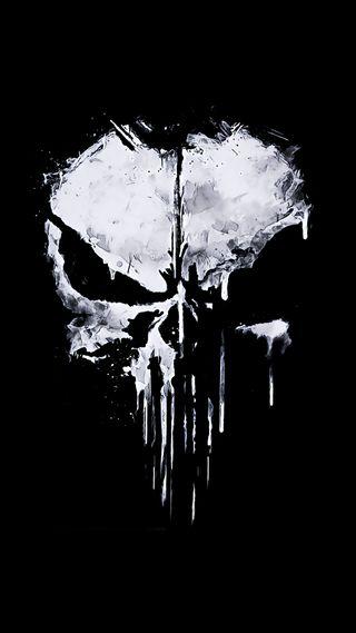 Обои на телефон каратель, череп, the punisher skull