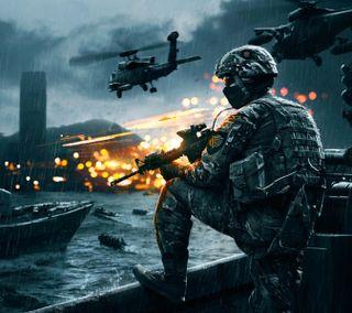 Обои на телефон стрелок, война, fps, battlefield 4