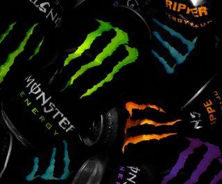 Обои на телефон energy drink, monster, monster energy, неоновые, напиток, энергетики
