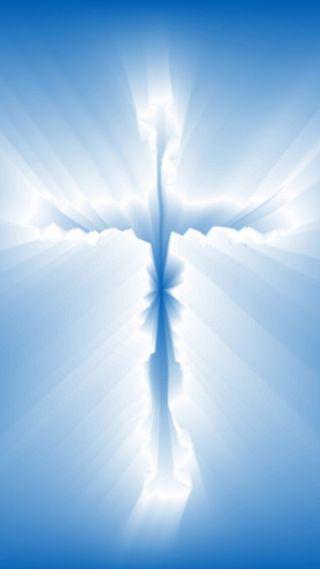Обои на телефон христианские, синие, крест