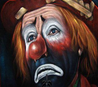 Обои на телефон эмоции, клоун, картина, жизнь, грустные, sad clown