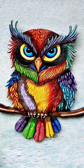 Обои на телефон сова, птицы, цветные, красочные
