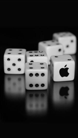 Обои на телефон эпл, логотипы, игральные кости, игра, белые, айфон, iphone, apple iphone, apple