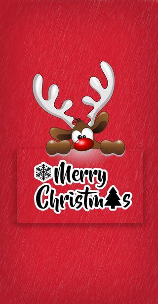 Обои на телефон олень, счастливое, рождество, праздник, красые