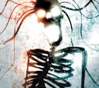 Обои на телефон панк, черные, череп, темные, призрак, опасные, лес, ghost