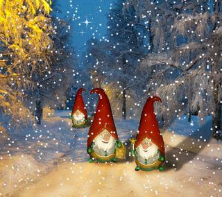 Обои на телефон санта, рождество, праздник, зима, дорога, winter road santa