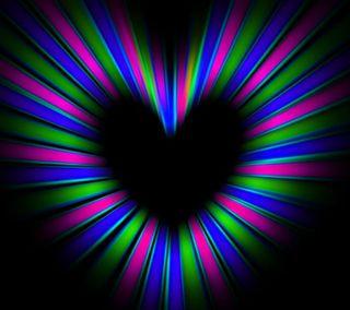Обои на телефон светящиеся, цветные, сердце, glowing heart