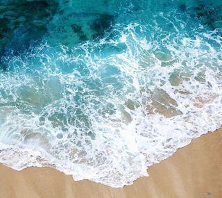 Обои на телефон пляж, синие, природа, белые