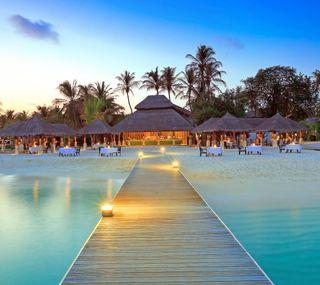 Обои на телефон остров, прекрасные, мальдивы, курорт, beautiful island