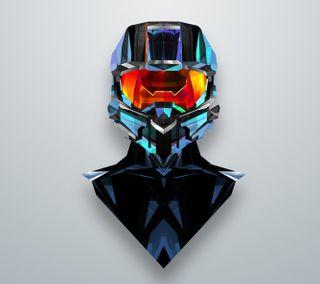 Обои на телефон шлем, отражение, цветные, арт, art