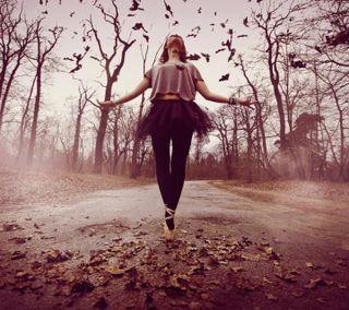 Обои на телефон танец, природа, пейзаж, осень, любовь, классные, девушки, love, autumn ballet dance, 2016
