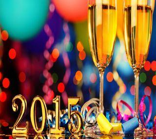 Обои на телефон фейерверк, счастливые, рождество, новый, золотые, год, happy, 2015