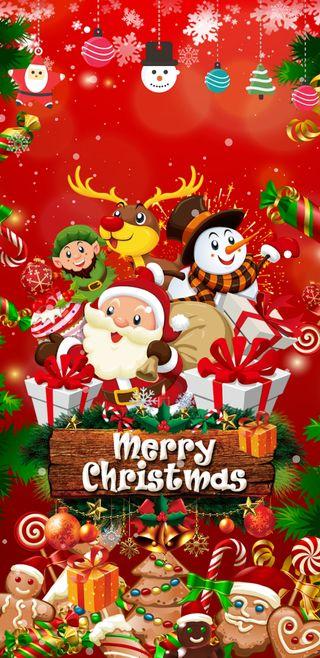 Обои на телефон эльф, санта, счастливое, снеговик, рождество, праздник, raindeer, merrychristmas