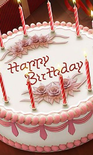 Обои на телефон торт, пожелания, день рождения, ты, счастливые, свечи, любовь, love