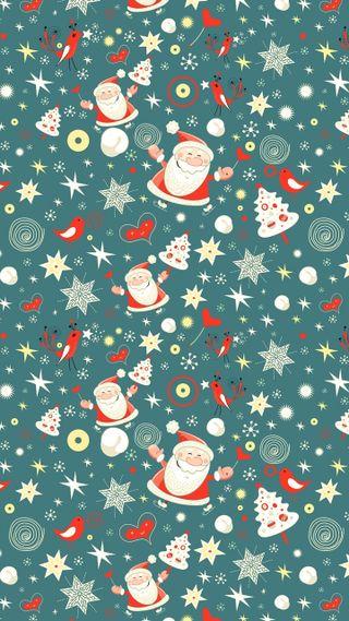 Обои на телефон санта, рождество, зима