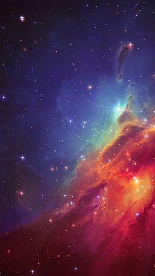 Обои на телефон аврора, туманность, ночь, небо, космос, звезды, галактика, galaxy