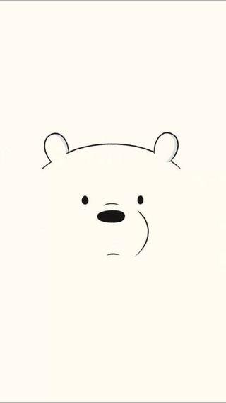 Обои на телефон медведь, лед