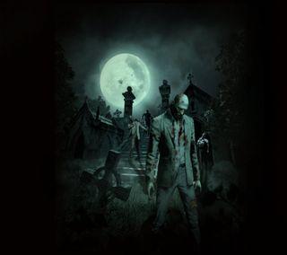 Обои на телефон зомби, graveyard, grave