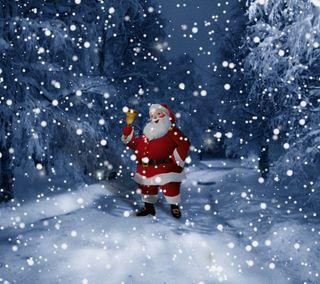 Обои на телефон санта, рождество, праздник, зима, дорога, winter road santa 5