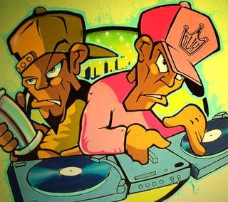 Обои на телефон диджей, граффити, wrgwerh, rweawer, dj graffiti