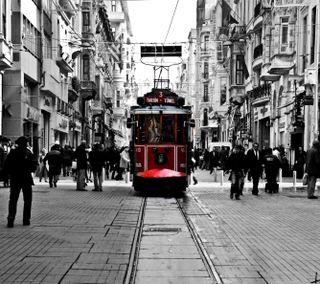 Обои на телефон стамбул, черные, турецкие, красые, tram, hd