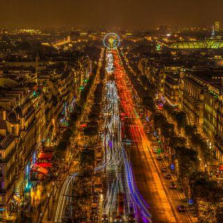 Обои на телефон франция, свет, париж, ночь, евро, город