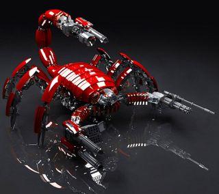 Обои на телефон скорпион, робот, новый, крутые, дизайн, арт, абстрактные, art