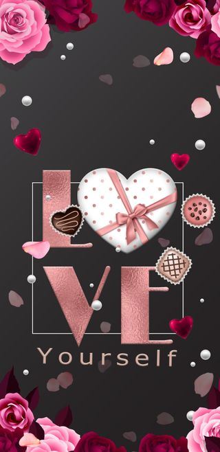 Обои на телефон шоколад, цветы, цветочные, сердце, розы, розовые, прекрасные, любовь, rosegold, loveyourself, love