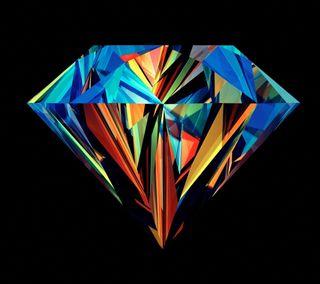 Обои на телефон бриллиант, красочные, абстрактные