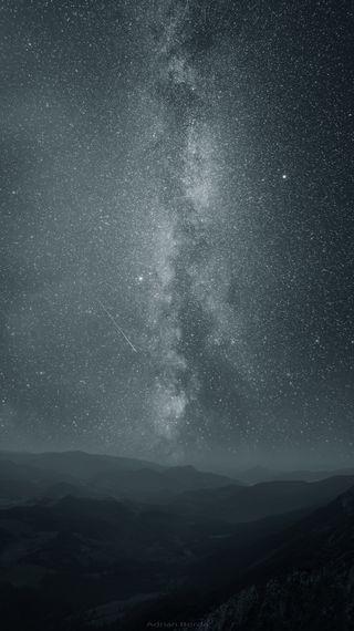 Обои на телефон путь, пейзаж, огонь, ночь, небо, млечный, звезды, айфон, iphone, eternal flames, borda, adrian