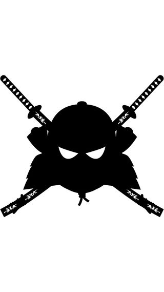 Обои на телефон самурай, флаг