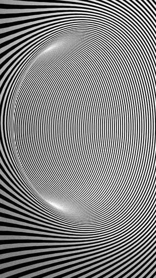Обои на телефон линии, черные, туннель, белые, tunnelvision, striped