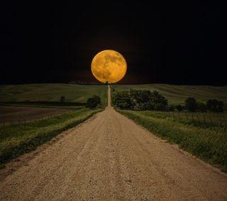 Обои на телефон луна, дорога, road to moon